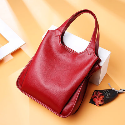 Latest Style Genuine Leather Handbag Ladies Tote Bag