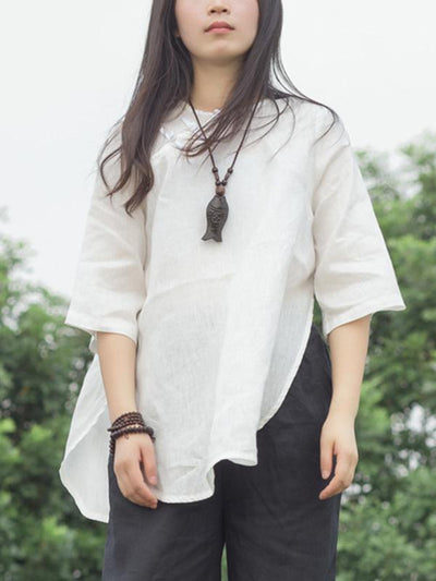 National Style Linen Blouses