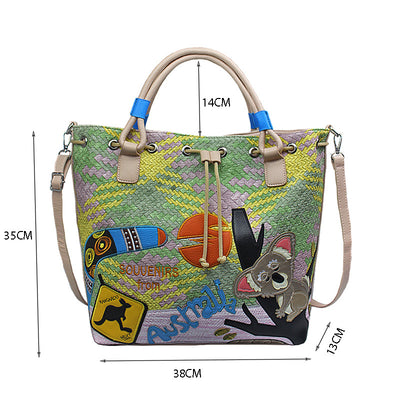Cartoon animal zipper creative bag