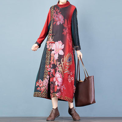 Buykud Chinese Style Beautiful Elegant Soft Comfortable Dress