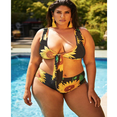 Fat woman prints sub-system rope fat bikini BIKINI SWIMSUIT