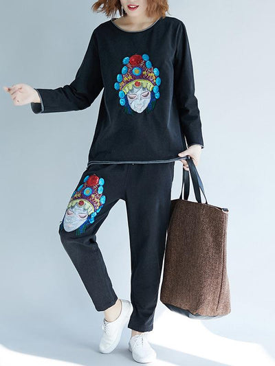 CASUAL PRINTED COMFORTABLE SUITS
