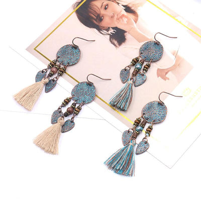 Vintage temperament tassel earrings female bohemian earrings