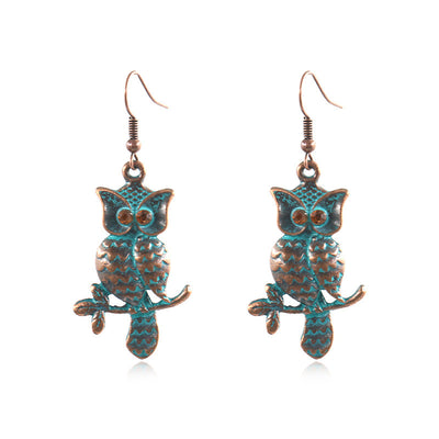 Owl Earrings long retro Earrings