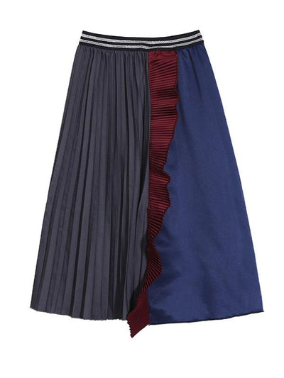Split-Joint Ruffled  A-Line Skirt