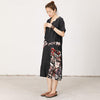 Abstract Print Spliced Loose Straight Dress