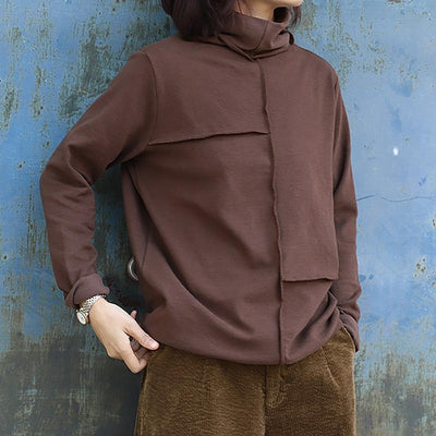 Autumn Winter Loose Turtleneck Bottoming Shirt