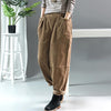 Autumn Winter Retro Corduroy Solid Color Pants