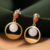 Beautiful Delicate White Jade Beads Earrings
