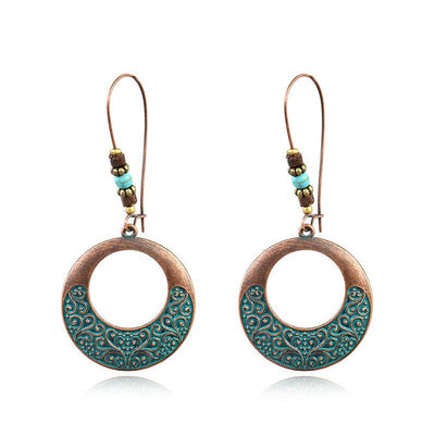 Bohemian Alloy Engraving Exquisite Pattern Earrings