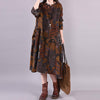 Casual Printed Elegant Loose Autumn Dress