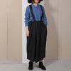 Casual Women Summer Solid Loose Suspender Skirt