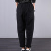 Embroidered Letter Casual Harem Pants