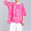 Floral Printed Drawstring Soft Comfortable T-Shirt