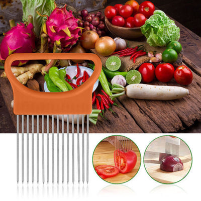 Tomato Onion Vegetable Slicer Cutting Protecting Finger Kitchen Gadget