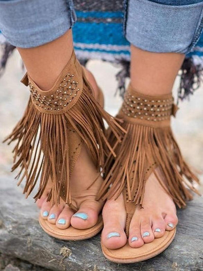 Tassels Flat Sandals Shoes