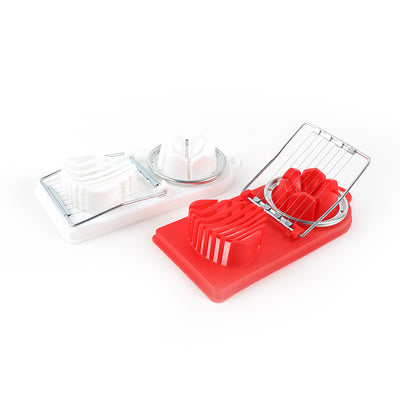 2 in 1 Egg Slicer Sectioner Cutter Egg Mold Flower Kitchen Gadgets