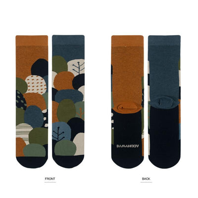 High Quality Jacquard Casual Socks - 5 Pairs