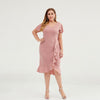 Irregular Agaric Hem Design Plus Size Elegant Dress