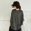 Layered Sleeve Pure Color Casual Shirt