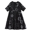 Literary Doodles Casual Sweet Spliced Dress