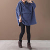 Plus Size - Loose Single Pocket Plus Velvet Sweatshirt