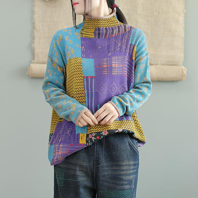 Autumn Winter Printed Long Sleeve Sweater