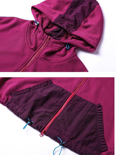 Autumn Sports Style Spliced Sweatershirt And Skirts