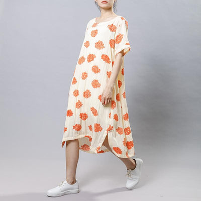 Pattern Printed Casual Soft Loose Dress