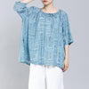 Pattern Printed Drawstring Soft Comfortable T-Shirt