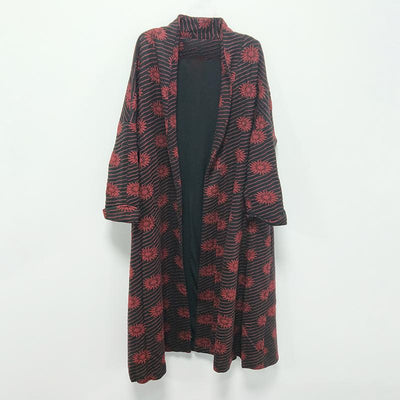 Winter Casual Floral Cardigans Long Sleeve Coat