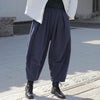 Retro Thick Warm Pure Color Pants