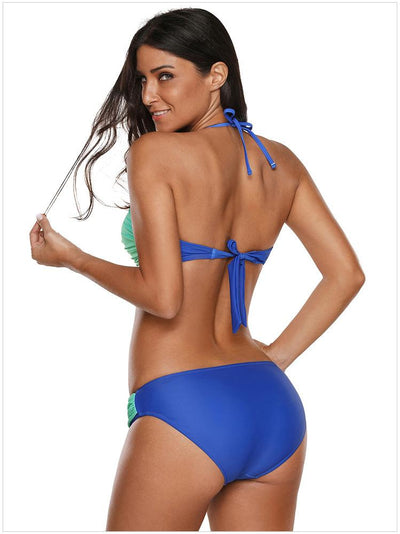 Gradient Halter Tie With Low Waist Bikini