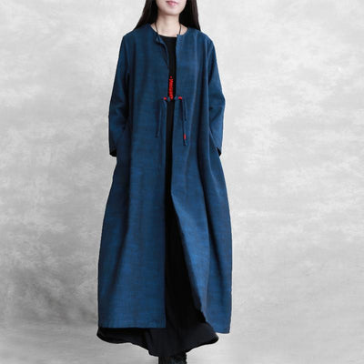 Single Button Solid Color Loose Coat