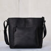 Solid Leather Casual Crossbody Bag Shoulder Bag