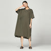Solid Pullover Loose Short Sleeve Dress