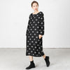 Spliced Polka Dots Casual Loose Dress