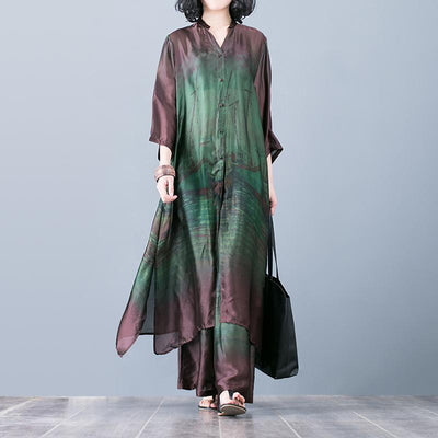 Spring Loose Printing Shirt And Pants