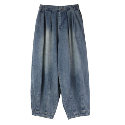 Summer Casual Solid Color Denim Harem Pants