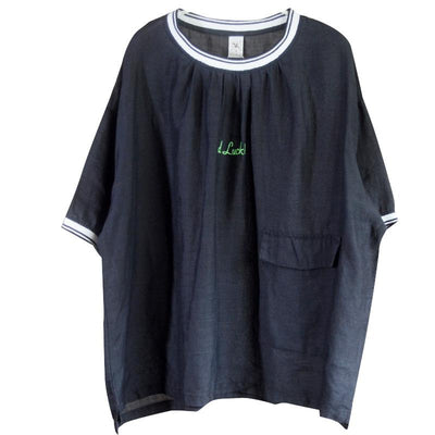 Summer Cotton Pockets Regular Short Sleeve T-shirt