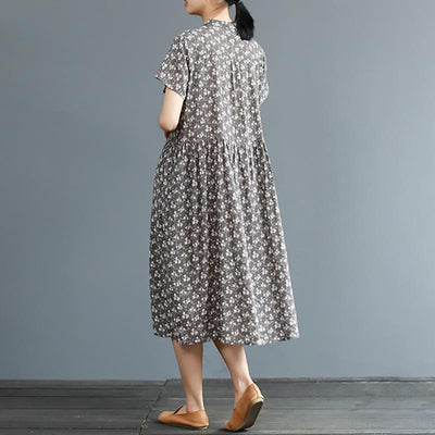 Summer Exquisite Vintage Printed Elegant Dress