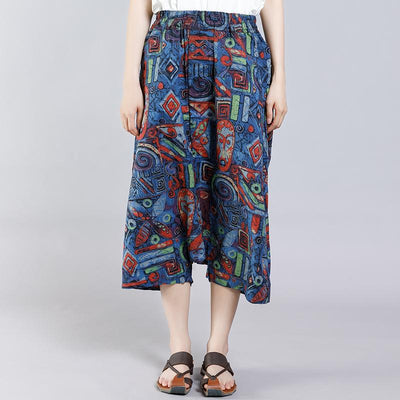 Summer Printed Personality Casual Cross Pants