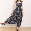 Summer Vintage Fashion Printed Loose Casual Jumpsuit