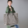 Thick Stripes Casual Canvas Female Handbag