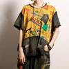 Vintage Printed Spliced Frayed Burr T-Shirt