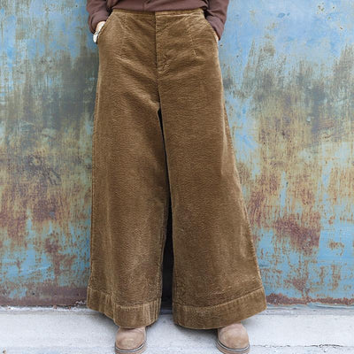 Plus Size - Winter Casual Thermal Wide Leg Pants