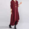 Women Casual Loose Cotton Autumn Dress