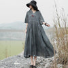 Women Half Sleeve Fashion Loose Dress