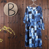Women Spring Casual Print Cardigan Loose Half Sleeve Dress