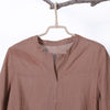 Women Spring Casual Solid Pullover Half Sleeve Long Shirt